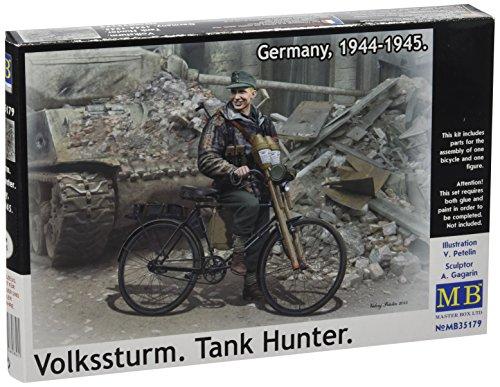 Masterbox Echelle 1 : 35 cm Allemagne 4 937,8–4 940,3 cm volkssturm Réservoir Hunter Kit de Construction (Gris)
