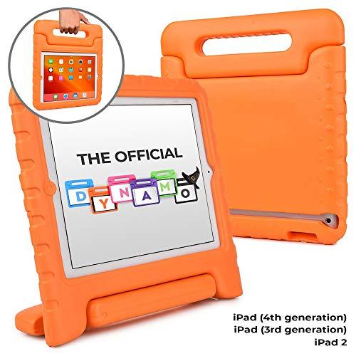 Cooper Dynamo [Funda Resistente para niños] Protección para iPad 4, iPad 3, iPad 2 Funda Protectora, (Naranja)