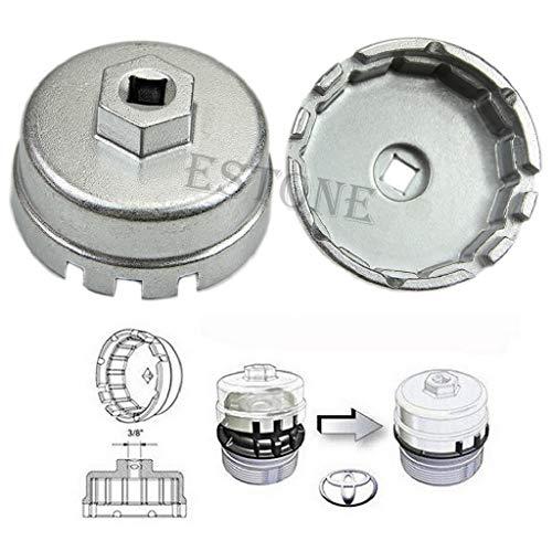 huiouer Llave de Vaso de Aluminio para Filtro de Aceite Toyota Prius Corolla Rav4 Auris