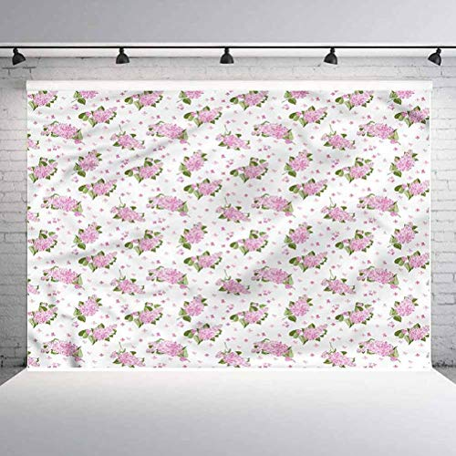 5x5FT Vinyl Photography Backdrop,Mauve,Flowers Pattern Country Style Background for Graduation Prom Dance Decor Photo Booth Studio Prop Banner