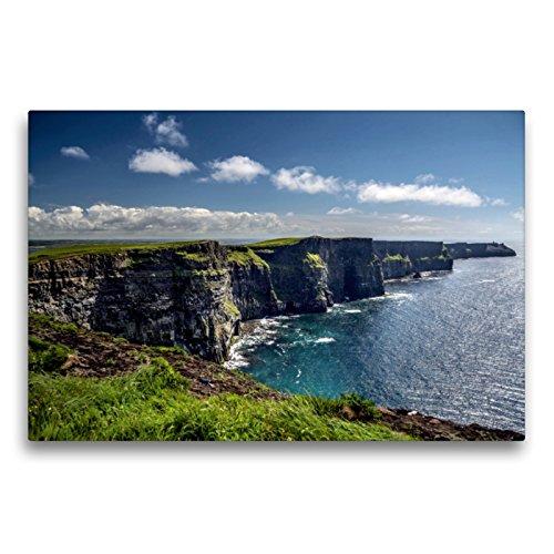 Premium Textil-Leinwand 75 x 50 cm Quer-Format Cliffs of Moher | Wandbild, HD-Bild auf Keilrahmen, Fertigbild auf hochwertigem Vlies, Leinwanddruck von Dirk Stamm
