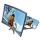 <span class='highlight'>Ying</span>-feirt 3D Curve Screen Magnifier,Cell Phone 3D HD Curved Movie Video Amplifier with Foldable Holder Stand All other Smart Phones,12inch-Black