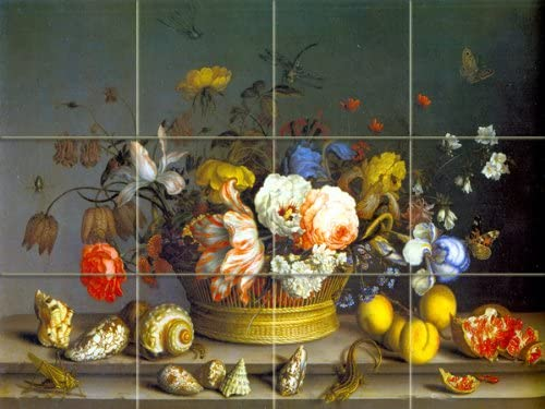 FlekmanArt Basket of Flowers Free shipping on posting reviews by Van A AST Modern der - Purchase Balthasar