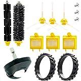 EPIEZA Kit de Neumaticos con Rueda Central + Cepillos + Repuestos Accesorios para Aspiradoras iRobot Roomba Serie 700 Pack de 15 uds