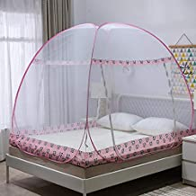 Aysis Foldable Mosquito Net for Double Bed (King Size) - Pink