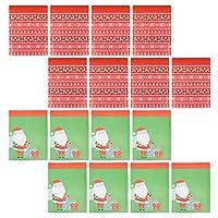 Balacoo 24個のクリスマスバブルバッグクリスマス配送バッグバブルメーラーパッド入り封筒サンタトナカイ鹿の郵送用バッグ