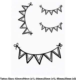 4 x 'Bunting' Temporary Tattoos (TO00035981)