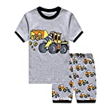 Little Boys Pajamas Shorts Set for Toddler Summer Clothes Train Dinosaur Sleepwear Cotton 2 Piece Kids Pjs Size 1-8 Years