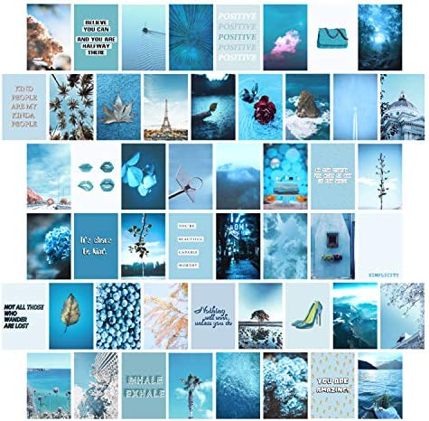 YUMKNOW Aesthetic Wall Collage Kit 4x6 inch Set of 50 Teen Girl Room Decor for Bedroom Dorm product image