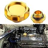 jdm engine oil cap - Dewhel Billet Engine Oil Fuel Filler Tank Cap Cover For Honda Acura Civic TL Color Gold