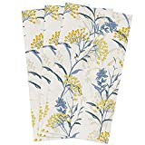 Microfiber Kitchen Towels 3pcs, Vintage Floral Plant, Super Absorbent Dish...