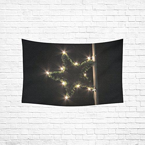 JOCHUAN Star Poinsettia Lighting Christmas Christmas Market Tapestry Abstract Painting Tapestry Wall Hanging Art For Living Room Bedroom Dorm Home Decor 60'x40'