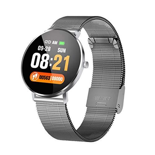 HQHOME Smartwatch Fitness Tracker Armband, IP67 Wasserdicht Touchscreen Sport Uhr mit Schrittzähler Schlafanalyse Kamera Musik Knopf, Anruf SMS Facebook Vibration für Herren Damen
