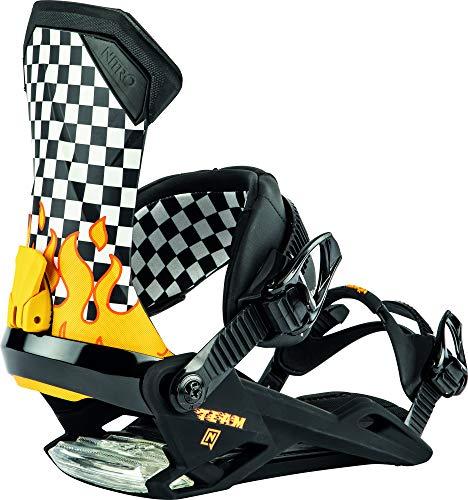 Nitro Snowboards Team '20 All Mountain Freestyle Freeride Fixation de Snowboard pour Homme Speedway Large Speedway.