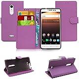 Blueenza purse case for Alcatel A3 XL l'étui - purple eco