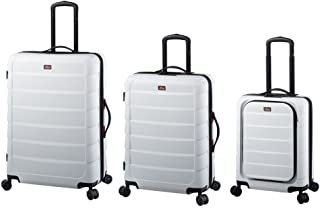 JSA Set of 3 Travel Trolley, Hard Shell Suitcase Set Made of ABS Plastic, 4 x 360° Smooth Rolling Suitcases, 72 cm, 184 L,...