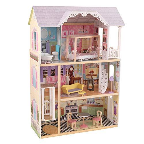 KidKraft 65869 Casa de muñecas de madera Kaylee para muñecas de 30cm...