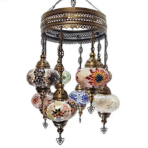 Fatto a Mano Turkish Marocchino Arabo Eastern Bohémien Stile Tiffany Mosaico in Vetro Colorato Soffitto da Parete Lampadario Lampade Arredo Casa