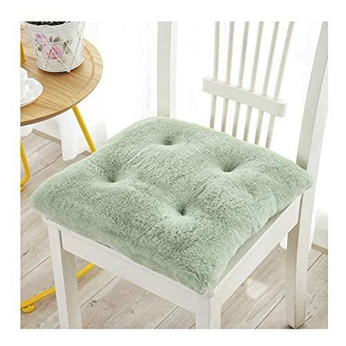 CIN&GO Juego de 4 Cojines para sillas con Relleno de algodón, diseño Acolchado, Cojines Cuadrados de Felpa para sillas para jardín, Patio, Cocina, Comedor, Oficina, 43x43x8cm