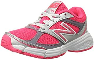 New Balance KJ514 Youth Lace Up Running Shoe Pink/Silver 12.5 M US Little Kid [並行輸入品]