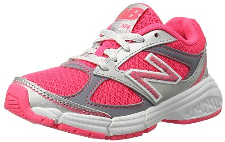 New Balance KJ514 Youth Lace Up Running Shoe Pink/Silver 12 W US Little Kid [並行輸入品]