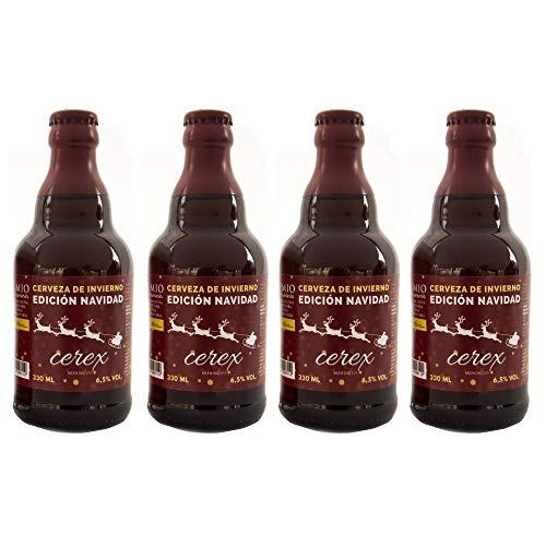 Cerveza Cerex Edición Navidad | Pack 4 botellas de 33 cl | Cerveza Artesanal | Edición limitada