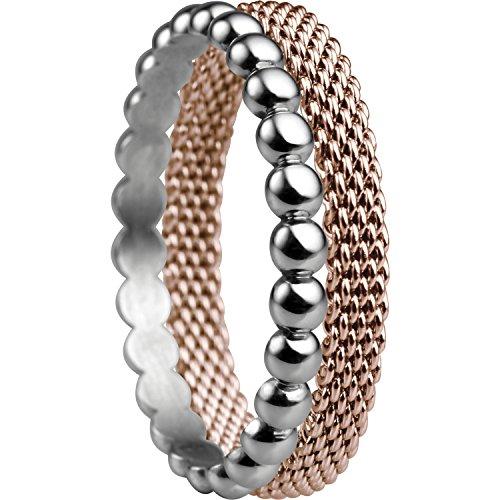 BERING Kombi-Ring für Damen in Silber | Twist & Change | Modena 10