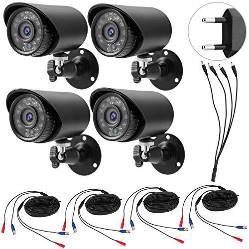 FOLOSAFENAR Material metálico HD 4-en-1 AHD/TVI/CVI/CVBS Monitor de cámara de Seguridad(100-240V European Standard)