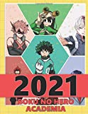 Boku No Hero Academia: Monthly Colorful Anime Calendar, Pictures, Quotes, Boku No Hero Academia, 8.5' x 11', This'll be my year!