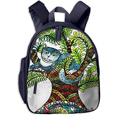 Kinderrucksack Kleinkind Jungen Mädchen Kindergartentasche Kratzbaum Kleiner See Backpack Schultasche Rucksack