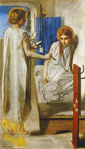 History of Painting 1900 Ecce Ancilla Domini Poster Print by Dante Gabriel Rossetti (18 x 24)