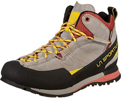LA SPORTIVA Unisex-Erwachsene Boulder X Mid Trekking-& Wanderhalbschuhe, Mehrfarbig (Grey/Red 000), 44.5 EU