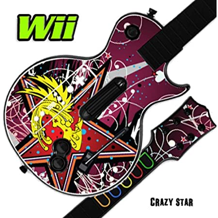 Mightyskins Skin Decal Skin Compatible with Guitar Hero 3 III Nintendo Wii Les Paul - Crazy Star