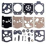 Mtanlo Carburador reparación de carburadores Kit para Walbro K20-WAT Husqvarna 55 51 455 460 Rancher Echo Poulan Pro Homelite Stihl 026 Motosierra recortadoras pieza de repuesto