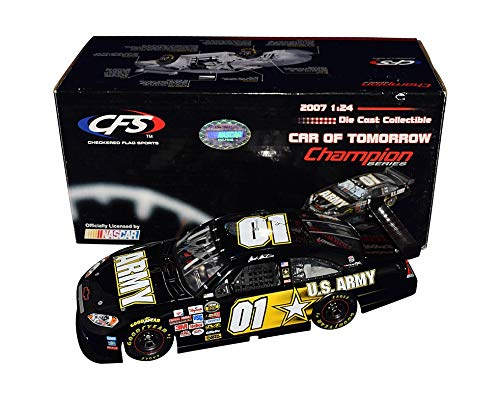 AUTOGRAPHED 2007 Mark Martin #01 U.S. ARMY Team (Ginn Racing) Nextel Cup Series Chevrolet Impala COT Checkered Flag Sports Signed CFS 1/24 Scale NASCAR Diecast Car COA (#0283 of only 1,250 produced)