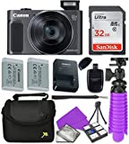 Canon PowerShot SX620 HS Digital Camera with Sandisk 32 GB SD Memory Card + Extra Battery + Tripod + Case + Card Reader + Cleaning Kit