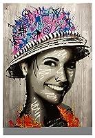 数字油絵 あなたの夢のストリートウォールグラフィティアートキャンバスペイントバイナンバーアートキャンバスアクリルペイントの部屋クアッドロスの装飾 (Color : 26, Size (Inch) : 40x50cm NO frame)