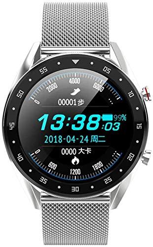 ZHENAO Smart Watch, Reloj Inteligente de Pantalla Táctil de 1,3 Pulgadas 240X240 Píxeles, Rastreador de Fitness de Negocios con Bluetooth Calorie Counter-C4 Desgaste diario / C4