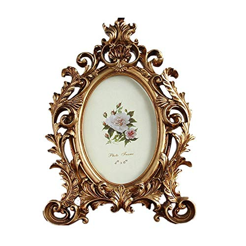 Fotolijst Vintage Gold Photo Frame Antiek Stijl Picture Frame Family Decor Homedecoratie (Color : Retro gold, Size : 19 * 26.5cm)