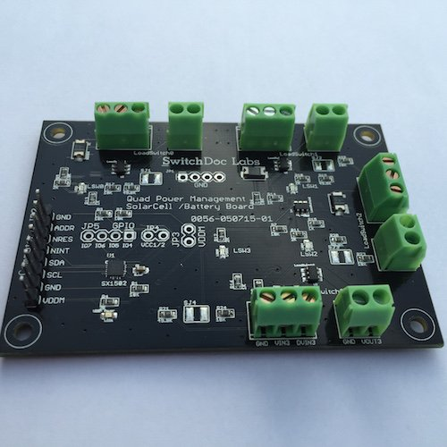 SwitchDoc Labs Quad Power Management (QPM) I2C Board für Raspberry Pi und Arduino