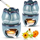 PopHMN Lampada aromatica in Ceramica, 2 Pezzi Diffusore di Olio Vuoto Bruciatori di aromi Scaldacera Supporto per aromaterapia Portacandele per Arredamento Camera da Letto di casa Regalo di Natale