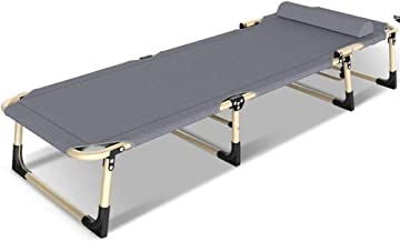 Folding Bed Simple Office Invisible Beds Household Folding BedPortable Accompanying Camp Bold Bed Folding Bed Single (Colo...