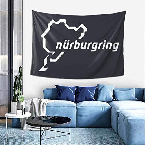 shibeili Wandbehang Wandteppich Nürburgring Wandteppich Wandbehang Polyester Dekor Decke Wandteppich für Wohnzimmer Schlafzimmer, 150x150cm (59x59Inches)