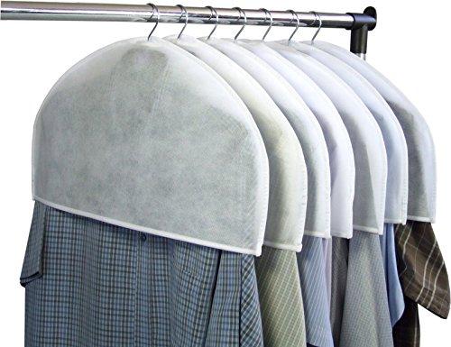 Hangerworld 10 Weiße Schultercover Schulterabdeckung Schulter Schutzhüllen Kleiderglocke