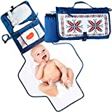 Portable Diaper Changing Pad Organizer with Large and Waterproof Baby Changing Mat