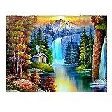 5D Kits de Pintura de Diamante Cascada de montaña 50x150cm