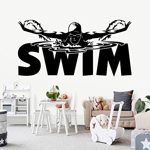 Tianpengyuanshuai Zwemdecoratie sticker kinderkamer waterdichte decoratie sticker zwembad behang