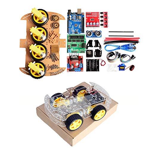 beIilan 2-Rad-intelligente Roboter-Auto Chassis Kit Geschwindigkeit Encoder Sonic Sensor-Tracking Motor Module kompatibel f/ür Arduino-Projekt