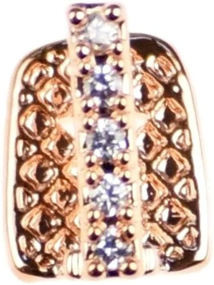 CZ Gap Grillz 14k Rose Gold Plated Cubic Zirconia Bling Tooth Top or Bottom Teeth Single Cap Hip Hop Grills