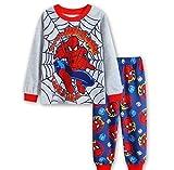 N'aix Spiderman Children's Pajamas Set 2-7T PJS Cotton Sleepwear Little Boys Kids Pajamas (Spiderman-T1, 6T)